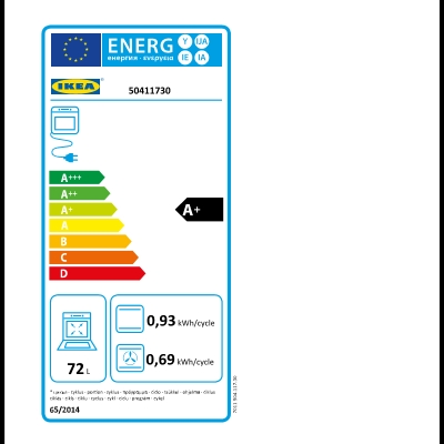 Energy Label Of: 50411730