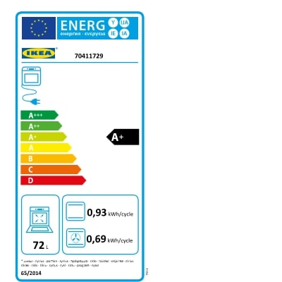 Energy Label Of: 70411729